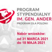 Narodowa Agencja Wymiany Akademickiej (NAWA) ogłasza otwarcie naboru wniosków  do programu dla Polonii im. Gen. Wł. Andersa